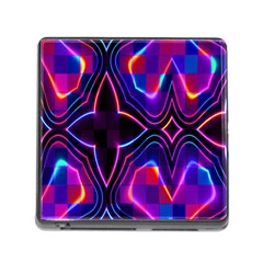 Rainbow Abstract Background Pattern Memory Card Reader (square)