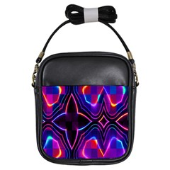 Rainbow Abstract Background Pattern Girls Sling Bags