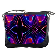 Rainbow Abstract Background Pattern Messenger Bags