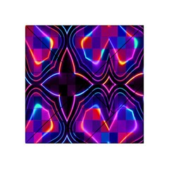Rainbow Abstract Background Pattern Acrylic Tangram Puzzle (4  x 4 )
