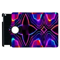 Rainbow Abstract Background Pattern Apple iPad 2 Flip 360 Case