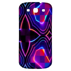 Rainbow Abstract Background Pattern Samsung Galaxy S3 S III Classic Hardshell Back Case