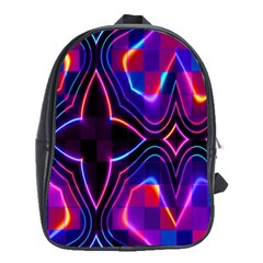 Rainbow Abstract Background Pattern School Bags (XL)