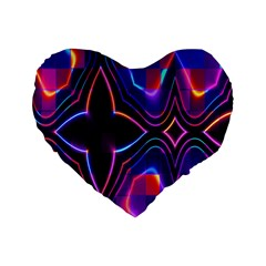 Rainbow Abstract Background Pattern Standard 16  Premium Heart Shape Cushions