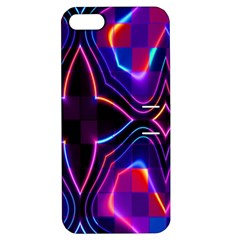 Rainbow Abstract Background Pattern Apple iPhone 5 Hardshell Case with Stand