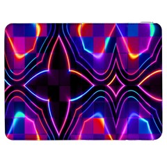 Rainbow Abstract Background Pattern Samsung Galaxy Tab 7  P1000 Flip Case