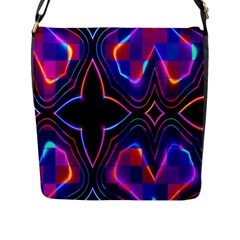 Rainbow Abstract Background Pattern Flap Messenger Bag (L)