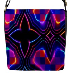 Rainbow Abstract Background Pattern Flap Messenger Bag (S)