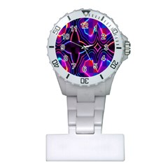 Rainbow Abstract Background Pattern Plastic Nurses Watch