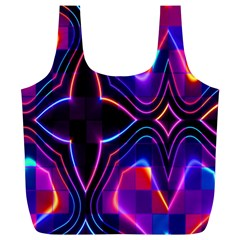 Rainbow Abstract Background Pattern Full Print Recycle Bags (L)