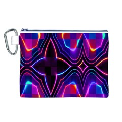Rainbow Abstract Background Pattern Canvas Cosmetic Bag (L)