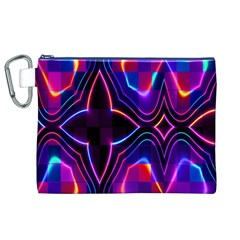 Rainbow Abstract Background Pattern Canvas Cosmetic Bag (XL)