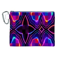 Rainbow Abstract Background Pattern Canvas Cosmetic Bag (XXL)