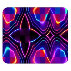 Rainbow Abstract Background Pattern Double Sided Flano Blanket (small)