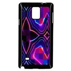 Rainbow Abstract Background Pattern Samsung Galaxy Note 4 Case (black)