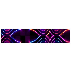 Rainbow Abstract Background Pattern Flano Scarf (Small)