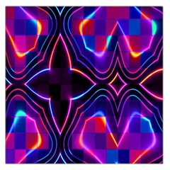 Rainbow Abstract Background Pattern Large Satin Scarf (square)