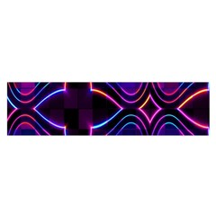 Rainbow Abstract Background Pattern Satin Scarf (Oblong)