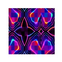Rainbow Abstract Background Pattern Small Satin Scarf (square)