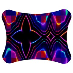 Rainbow Abstract Background Pattern Jigsaw Puzzle Photo Stand (Bow)