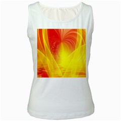 Realm Of Dreams Light Effect Abstract Background Women s White Tank Top