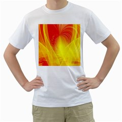 Realm Of Dreams Light Effect Abstract Background Men s T-Shirt (White) (Two Sided)