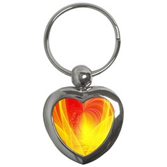 Realm Of Dreams Light Effect Abstract Background Key Chains (Heart)