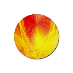 Realm Of Dreams Light Effect Abstract Background Rubber Coaster (Round)