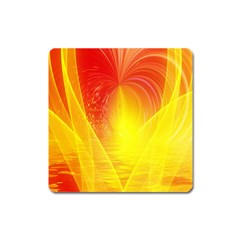 Realm Of Dreams Light Effect Abstract Background Square Magnet