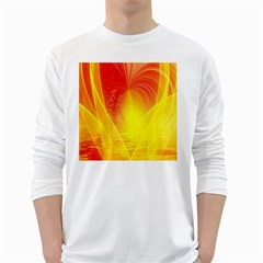 Realm Of Dreams Light Effect Abstract Background White Long Sleeve T Shirts