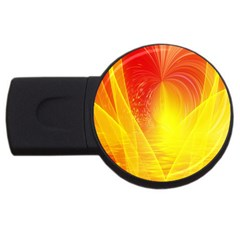 Realm Of Dreams Light Effect Abstract Background Usb Flash Drive Round (4 Gb)
