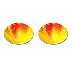 Realm Of Dreams Light Effect Abstract Background Cufflinks (Oval)