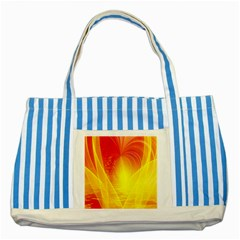 Realm Of Dreams Light Effect Abstract Background Striped Blue Tote Bag