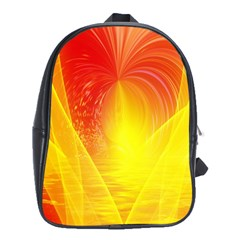 Realm Of Dreams Light Effect Abstract Background School Bags (XL)