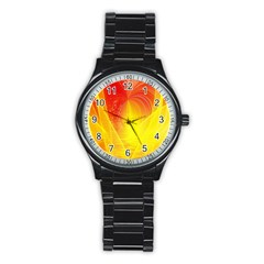 Realm Of Dreams Light Effect Abstract Background Stainless Steel Round Watch