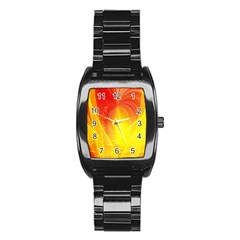 Realm Of Dreams Light Effect Abstract Background Stainless Steel Barrel Watch