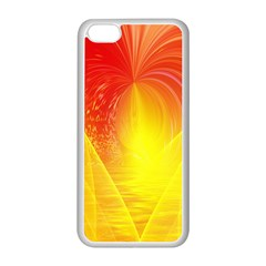 Realm Of Dreams Light Effect Abstract Background Apple iPhone 5C Seamless Case (White)