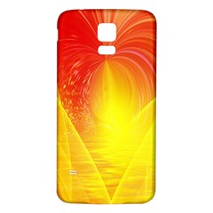 Realm Of Dreams Light Effect Abstract Background Samsung Galaxy S5 Back Case (White)