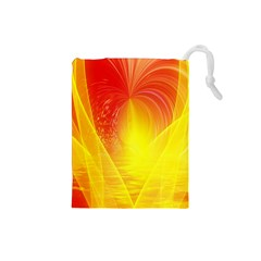 Realm Of Dreams Light Effect Abstract Background Drawstring Pouches (small)