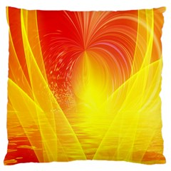 Realm Of Dreams Light Effect Abstract Background Large Flano Cushion Case (One Side)