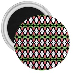 Abstract Pinocchio Journey Nose Booger Pattern 3  Magnets