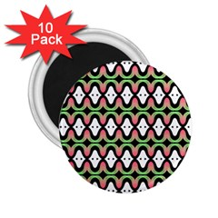 Abstract Pinocchio Journey Nose Booger Pattern 2 25  Magnets (10 Pack)