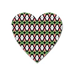 Abstract Pinocchio Journey Nose Booger Pattern Heart Magnet