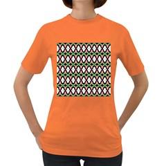 Abstract Pinocchio Journey Nose Booger Pattern Women s Dark T Shirt