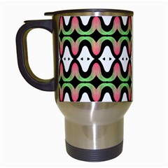 Abstract Pinocchio Journey Nose Booger Pattern Travel Mugs (White)
