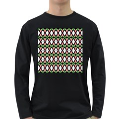 Abstract Pinocchio Journey Nose Booger Pattern Long Sleeve Dark T Shirts