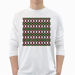 Abstract Pinocchio Journey Nose Booger Pattern White Long Sleeve T Shirts