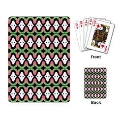 Abstract Pinocchio Journey Nose Booger Pattern Playing Card
