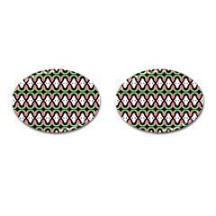 Abstract Pinocchio Journey Nose Booger Pattern Cufflinks (Oval)