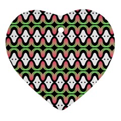 Abstract Pinocchio Journey Nose Booger Pattern Heart Ornament (two Sides)